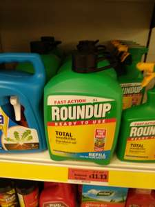 Roundup Fast Action Weedkiller Pump n Go Refill Pack - 5 L (in store only) £11.13 at Sainsbury's (found Wakefield)