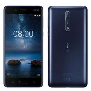 Nokia 8 128GB/6GB Glossy Blue with 1 Month Contract £249.99 @ CPW