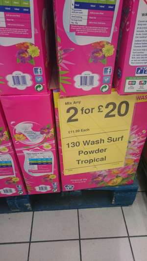 Surf 130 wash 2 for £20 instore @ Farmfoods