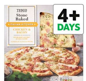 TESCO STONEBAKED PIZZA RANGE HALF PRICE - £1.80