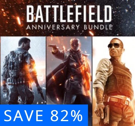 Battlefield Anniversary bundle PSN Store - £15.99