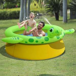 Summer Party Inflatable Spray Pool Turtle Shape from  £24.99 delivered @ VidaXL