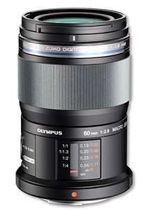 Olympus 60mm f/2.8 Macro Micro 4/3 Lens - £359 (£294 after cashback) @ Amazon