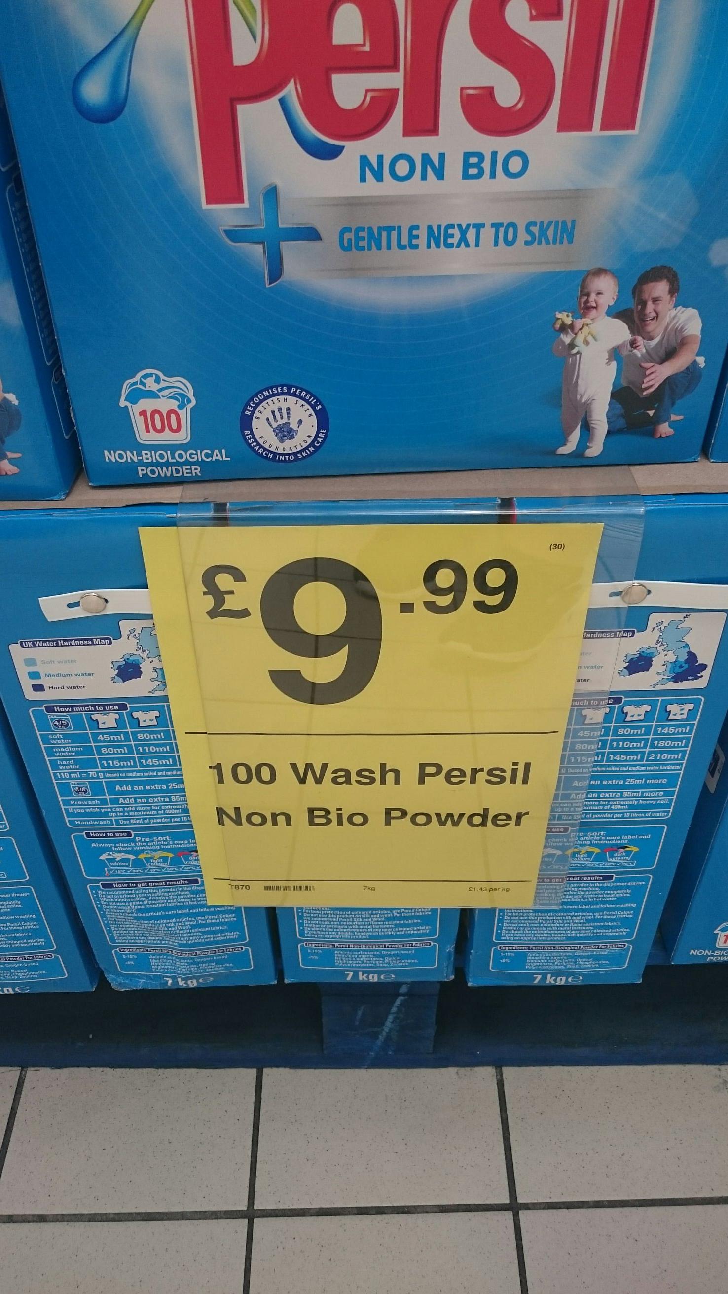 Persil non bio 100 wash £9.99 instore @ Farmfoods