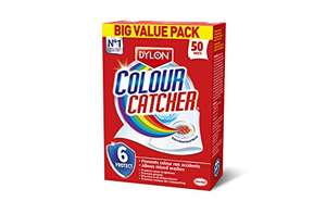 Colour catcher 50 sheets £2.50 add on item @ amazon.co.uk