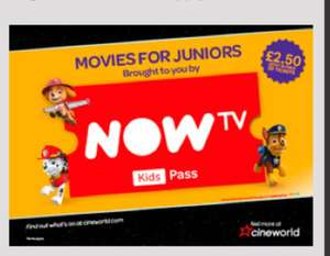 Movies For Juniors for £2.50 @ Cineworld