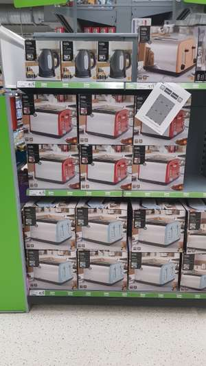 George Home Asda 4 Slice toasters in red, baby blue or bronze £8.75 instore