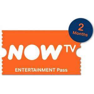 2 Months NOW TV Entertainment Pass - £4.95 - TheGameCollection