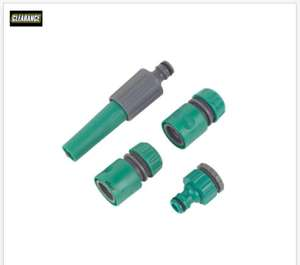 4pc Hose Fittings Set 80% off - 79p at Screwfix Instore