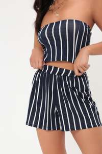 30% Off Full Price Clothes w/code + Free Next Day Delivery Site Wide inc Sale @ Isawitfirst eg Navy/White Stripe High Waisted Shorts now £7 Delivered
