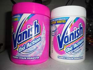 Vanish White or Colour Oxi Action Fabric Stain Remover 1.4kg @ Poundland Stores £5