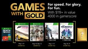 Games with Gold for August (Forza Horizon 2, For Honor, Dead Space 3 and Epic Mickey 2: The Power of Two)