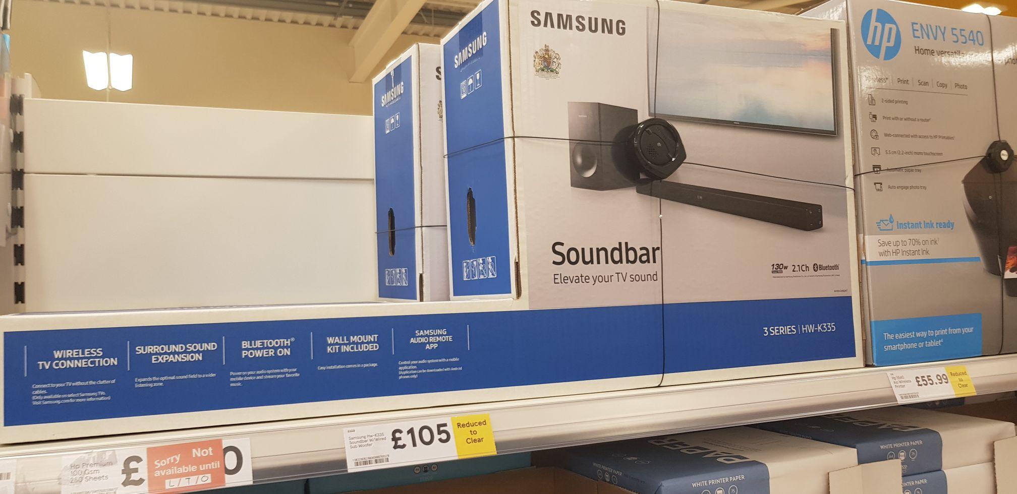 Samsung Soundbar - £105 instore @ Tesco