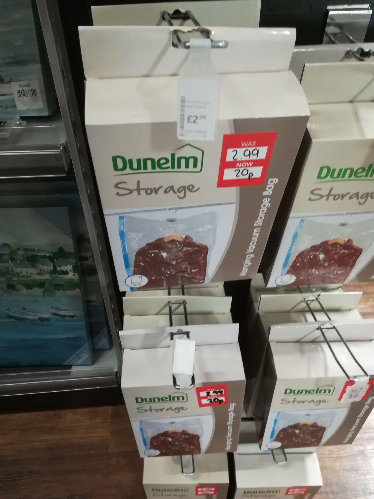 Vaccum Storage bags 20p in store @ Dunelm