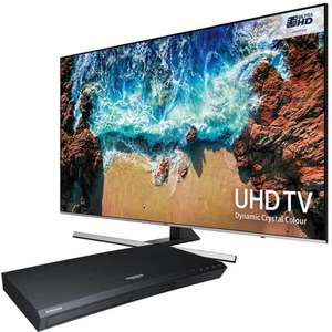 Samsung UE55NU8000 + free blu Ray player £899 w/code @ Electrical Discount