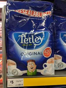 Tetley Original 420 teabags £5 in store at Morrison's Maidstone.