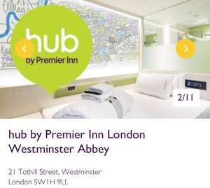 Premier Inn Hub Westminster Abbey December Shopping Trip £38