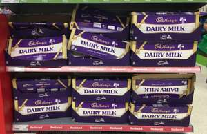 Cadbury dairy milk £5 Reduced to clear 850g for £5 in asda hounslow.