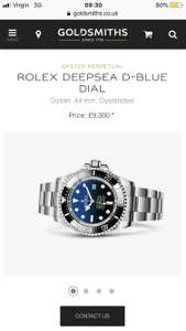 Goldsmiths jewellers 15% off Rolex,breitling,Cartier,omega plus anything else in store on non sale items instore only