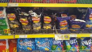 Walkers 6pk crisps various flavours 2 for £1 @ heron foods.