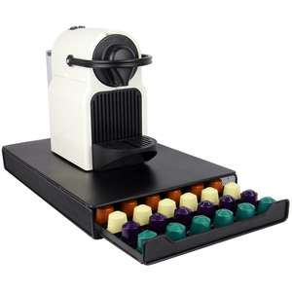 Nespresso 60 Pod Coffee Storage Drawer & Machine Stand was £21.98 Del now £9.99 Del w/code @ Shop4World (Tassimo version £10.99 / Set of 6 Clip Top Preserve Bottles £6.99)