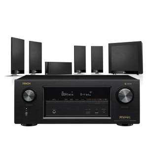 Denon AVR-X2400H AV Receiver with KEF T105 AV Speakers £1200 @ Peter Tyson