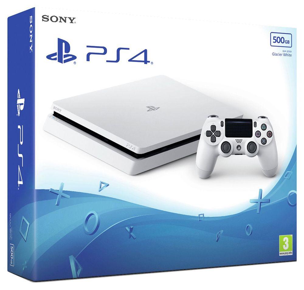 Grade A refurbished Sony PlayStation PS4 Slim 500GB Console - Glacier White. Argos on eBay £204.99