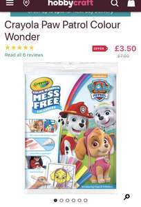 Crayola mess free colour wonder pack reduced to £3.50 at hobbycraft free click and collect