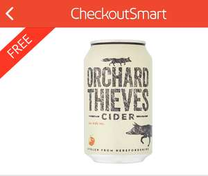 Orchard Thieves Cider 330ml - £1.50 @ Tesco & Sainsbury's but FREE after cashback with Checkoutsmart & also Quidco