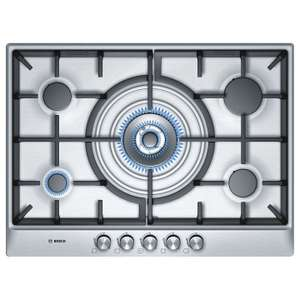 Bosch PCQ715B90E Gas Hob, Stainless Steel was £319 now £269 @ John Lewis