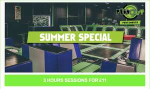 Flip Out (Portsmouth) trampoline park summer special - 3 hours for £11 (online/phone bookings only)