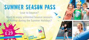 AirHop (Guildford) trampoline park summer season pass only 76p a day!! - £29 total