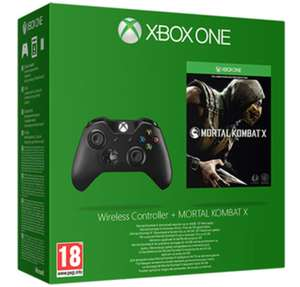 OFFICIAL XBOX ONE WIRELESS CONTROLLER WITH MORTAL KOMBAT X £50.99 delivered @Game