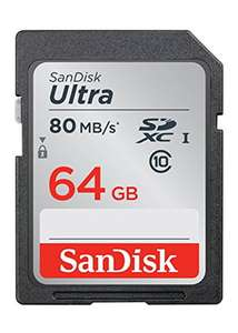 SanDisk Ultra 64 GB SDXC Memory Card up to 80 MB/s, Class 10 [Newest Version] - £13.99 @ BASE.COM