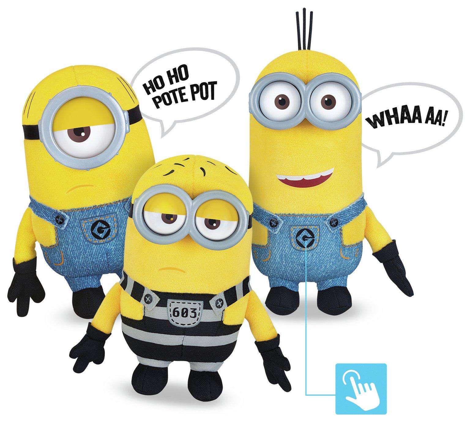 Talking Minions Despicable Me 3 Plush Buddies - £2.49 @ Argos (Free C&C)