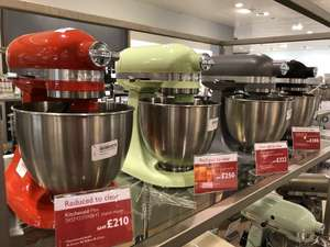 KitchenAid Mini Stand Mixer - £210 instore @ John Lewis (Westfield City)