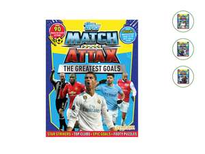 Topps Match Attax Books choose from Greatest Goals, World Teams & Players, UK Teams & Players or Facts & Puzzles  in store from Sun 5th Aug £2.49 @ Lidl