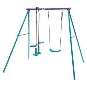 Plum Outdoor Metal Swing & Glide Set With 2 Seat Glider - £49 FREE Delivery @ Tesco_Outlet eBay