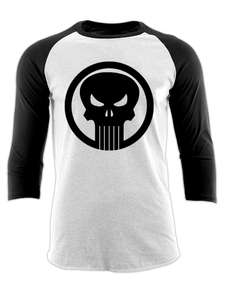Punisher Logo Baseball shirt £5 delivered @ LoudShop