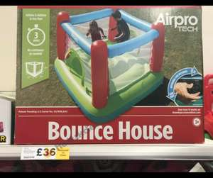 AirPro Tech 172 x 172 x 160 cm Bounce House / Bouncy Castle With Pump was £100 now £36 Tesco in store