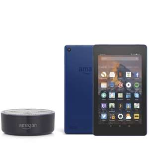 Amazon Echo Dot & Fire 7 16GB Tablet with Alexa & 32GB SD Card £79.95 Delivered @ QVC & 3 Easy Pays of £25 (if new customer use code FIVE4U to get £5 off)