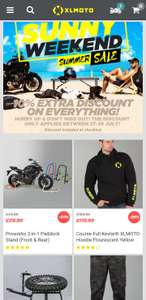 10% off everything ince sale (ends today) @ XL Moto