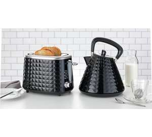Cookworks textured kettle and toaster in black with great reviews were £29.99 now £19.99 each @ Argos