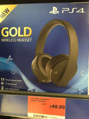 Playstation Gold Wireless Headset - £49.99 instore at Sainsburys