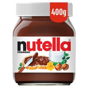 Nutella 400g £2 Tesco in store an on line