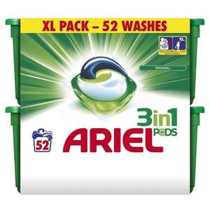 Ariel 3in1 Pods Washing Capsules Original (52 Washes) £9.34 in Savers
