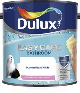 Dulux Easy Care Paint (bathroom paint etc) - 50% Off All Colours - £9.50 in Wilko