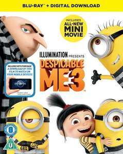 Despicable Me 3 (2017) (New) bluray + download - automatic discount at checkout w/free P&P - £7.19 @ Music Magpie
