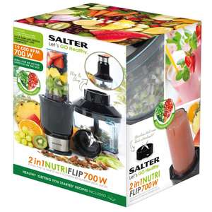 Salter 2 in 1 Nutri Slim Blender and Chopper 700w £20 With Code - Free Delivery WAS £99 @ The Works