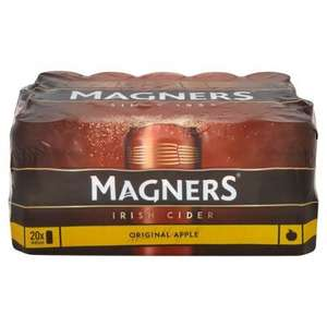 Magners 18x440ml cans £9 from Asda in-store and online